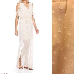 NWT Charles Henry Champagne Maxi Dress